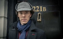 I couldn't resist! Benedict Cumberbatch as Sherlock Holmes complete with death frisbee.
